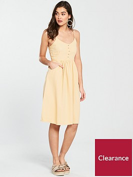 miss-selfridge-denim-button-midi-dress-yellow