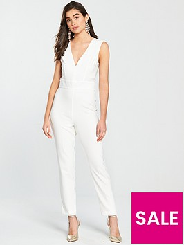 miss-selfridge-deep-v-jumpsuit-whitenbsp