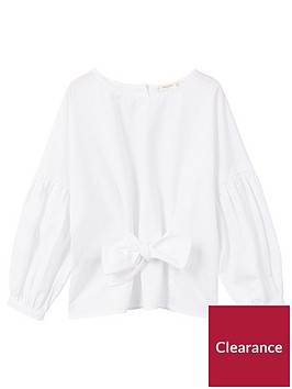 mango-girls-bow-front-cotton-blouse