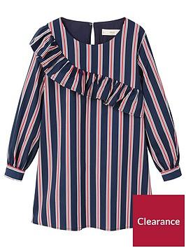 mango-girls-stripe-ruffle-dress