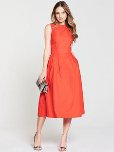 warehouse-tie-back-midi-dress