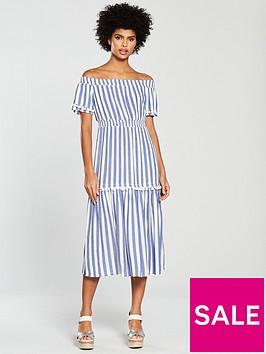 warehouse-stripe-cheesecloth-midi-dress