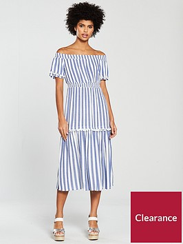 warehouse-stripe-cheesecloth-midi-dress