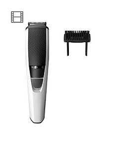 Philips Series 3000 Beard & Stubble Trimmer with Stainless Steel Blades - BT3206/13