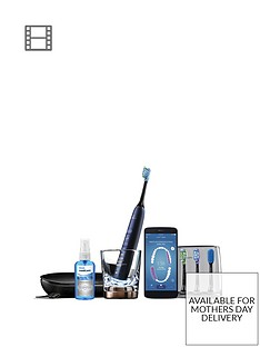 Philips Sonicare DiamondClean Smart Electric Toothbrush - Lunar Blue Edition (UK 2-Pin Bathroom Plug) HX9954/53