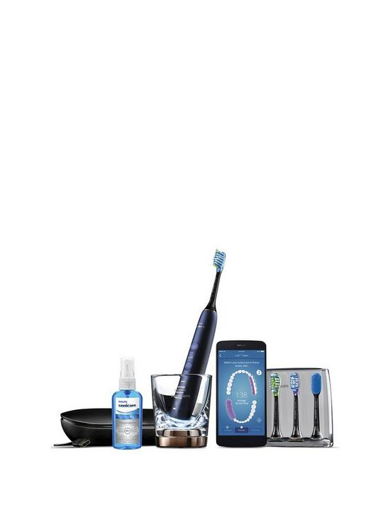 Sonicare DiamondClean Smart Electric Toothbrush - Lunar Blue Edition (UK  2-Pin Bathroom Plug) HX9954/53