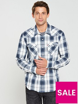 levis-levis-barstow-western-checked-shirt