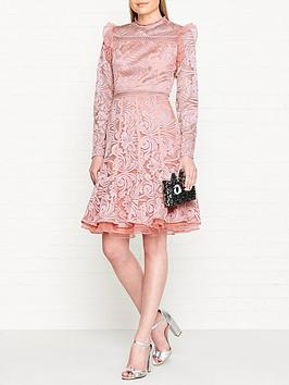 true-decadence-embroidered-high-necknbsplong-sleeve-dress--nbsppink