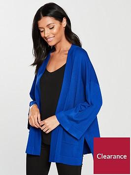 v-by-very-kimono-sleeve-edge-to-edge-cardigan-cobalt-blue