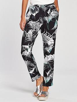 wallis-palm-print-trouser