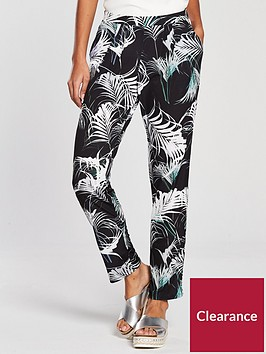 wallis-palm-print-trouser