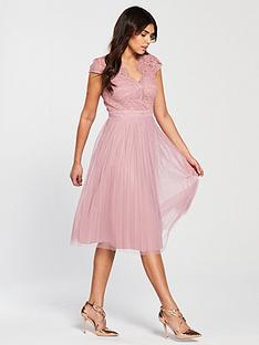 little-mistress-lace-top-pleated-mesh-midi-dress-blush