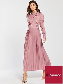 little-mistress-embroidered-lace-pleat-bottom-midi-dress-blush