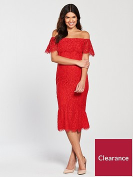 little-mistress-lace-flute-hem-midi-dress-red