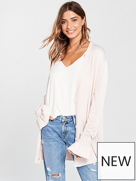 v-by-very-frill-cuff-slouch-boyfriend-cardigan-blush-pink