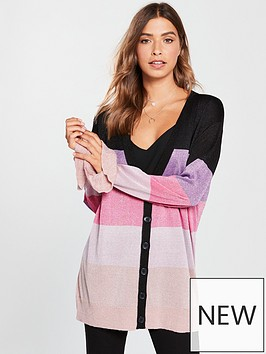 v-by-very-metallic-colour-block-frill-cuff-slouch-cardigan