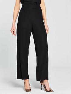 wallis-high-waist-wide-leg-trouser-black