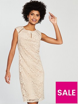 wallis-floral-lace-shift-dress