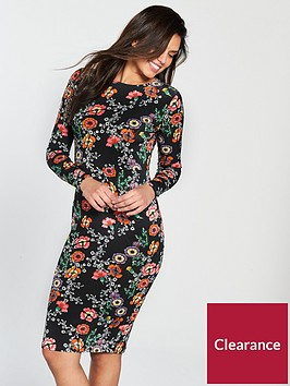 v-by-very-long-sleeve-bodyconnbspjersey-midi-dress-black-floral