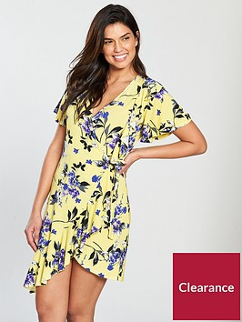 v-by-very-printed-jersey-wrap-dress-yellow-print