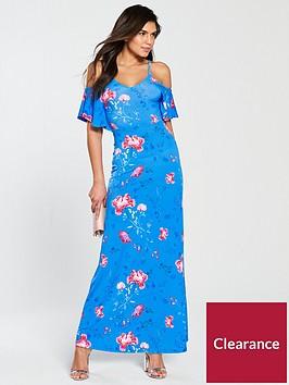 v-by-very-cold-shoulder-flutednbspsleeve-jersey-maxi-dress-blue-print