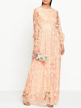 true-decadence-balloon-sleeve-embroidered-lace-maxi-dress-peach