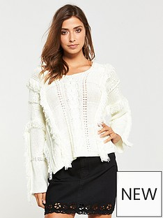 v-by-very-fringe-tape-jumper-cream