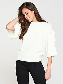 v-by-very-bow-sleeve-jumper-ivory