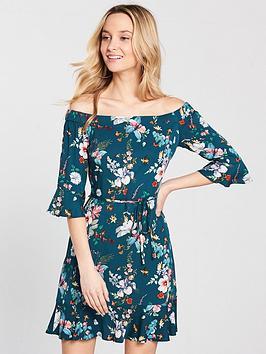 oasis-oasis-fitz-william-34-sleeve-bardot-dress