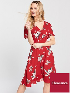 oasis-spaced-havana-floral-tea-dress