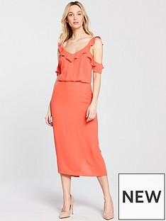 oasis-frill-midi-dress