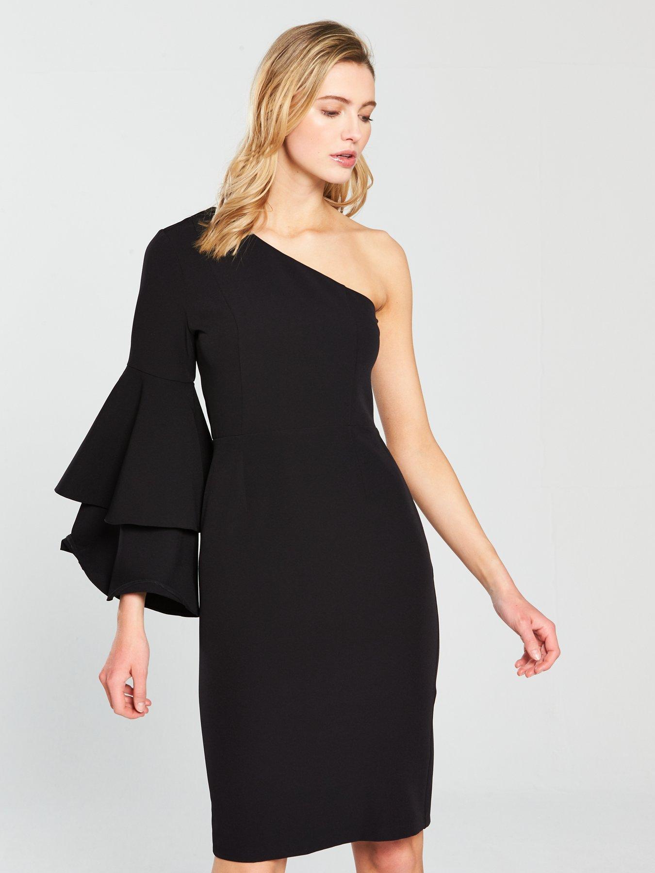 Oasis One Shoulder Dress – Black