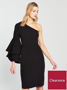 oasis-one-shoulder-dress-ndash-black