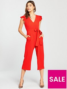 oasis-ruffle-sleeve-jumpsuit-red