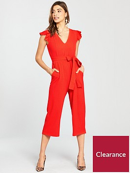 oasis-ruffle-sleeve-jumpsuit-red