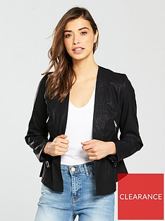 lost-ink-drop-waist-peplumnbsphem-jacket-blacknbsp