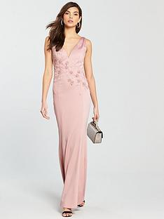 little-mistress-v-neck-maxi-dress-rose