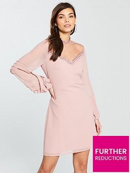 little-mistress-ruffle-sleeve-shift-dress-rosenbsp
