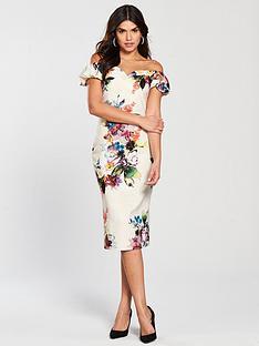 little-mistress-floral-print-off-shoulder-bodycon-dress