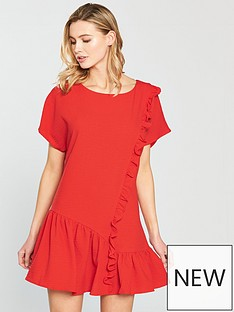 lost-ink-lost-ink-frill-front-shift-dress