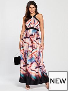 little-mistress-racer-neck-printed-maxi-dress