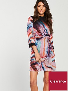 little-mistress-tie-back-printed-shift-dress-multi