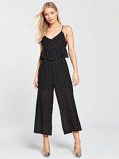 lost-ink-spot-frill-waist-jumpsuit-black