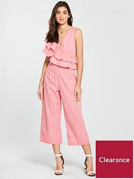 lost-ink-frill-shoulder-tie-waist-jumpsuit-pinknbsp