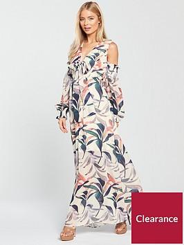 lost-ink-cold-shoulder-maxi-dress-floral-print
