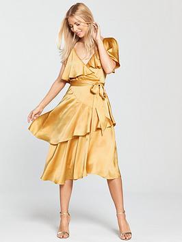 Lost Ink Deconstructed Tea Dress - Yellow