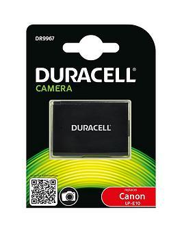 Image of Camera battery Duracell replaces original battery LP-E10 7.4 V 1