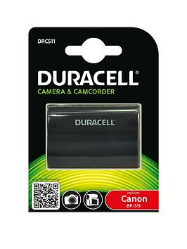 Image of Camera battery Duracell replaces original battery BP-511, BP-512 7.4 V