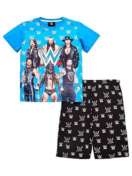 wwe-boys-t-shirt-and-short-pyjama-set-multi