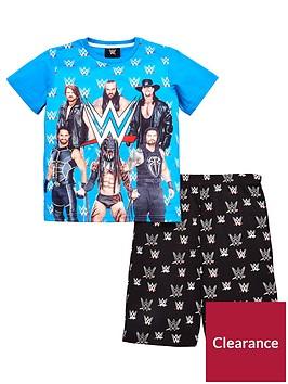 wwe-boys-t-shirt-and-short-pyjama-set-multi